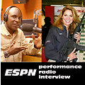 ESPN's Hank Hayes interviews with Sgt Betsy Smith