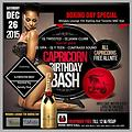 Promo for Saturday Dec. 26th Boxing Day Capricorn Bday Bash 2015