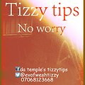 tizzy tips-- No Worry